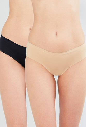MAX Solid Seamless Hipster Panties - Pack of 2