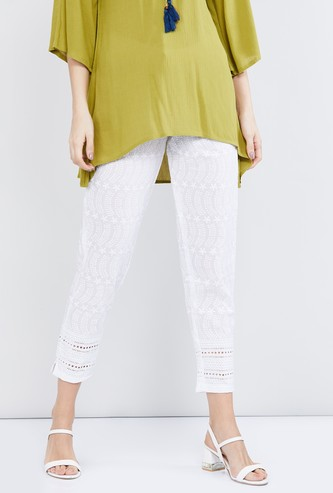 MAX Embroidered Cropped Pants