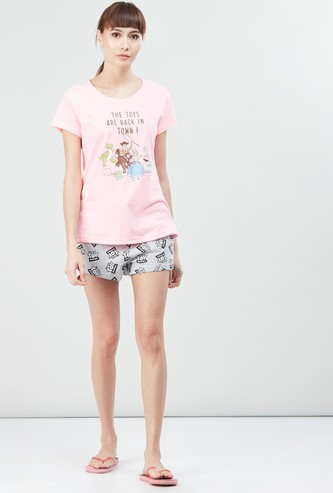 MAX Printed T-shirt with Elasticated Shorts