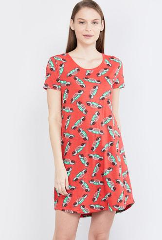 MAX Friends Print Night Dress