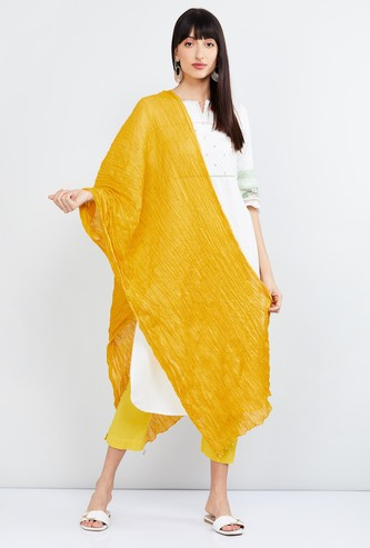 MAX Solid Dupatta with Beaded Detail