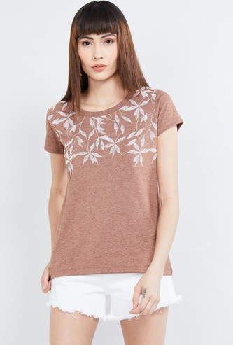MAX Floral Print Short Sleeves T-shirt