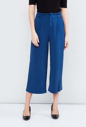 MAX Solid Pleated Culottes