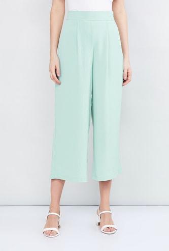 MAX Solid Woven Culottes