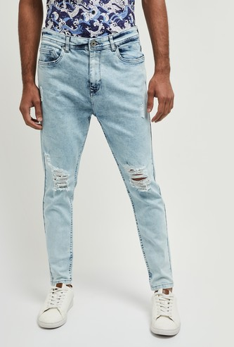MAX Washed Carrot Fit Jeans