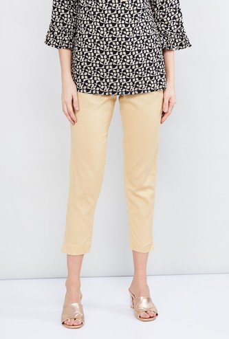 MAX Solid Cropped Ethnic Pants