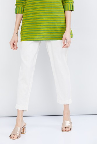 MAX Solid Crop Length Pants