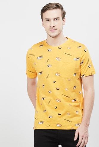 MAX Printed Patch Pocket Regular Fit T-shirt