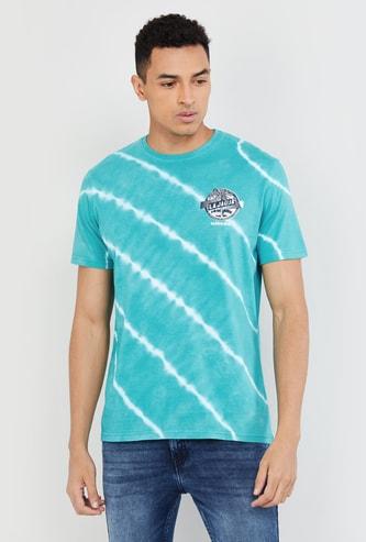 MAX Tie-Dye Print Slim Fit Crew Neck T-shirt