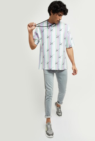 MAX Printed Relaxed Fit Crew Neck T-shirt