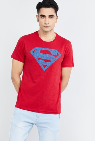 MAX Superman Print Crew Neck Slim Fit T-shirt