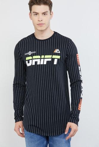 MAX Striped Ultra Slim Fit Crew Neck T-shirt