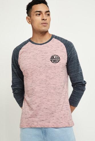 MAX Textured Raglan Sleeves T-shirt