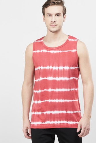 MAX Ombre Patterned Regular Fit Crew Neck T-shirt