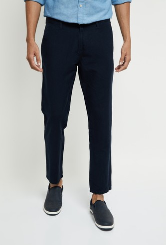 MAX Solid Skinny Fit Casual Chinos