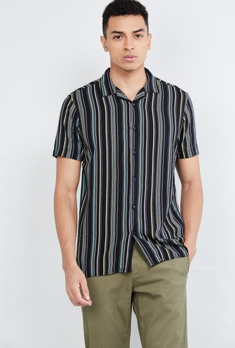 MAX Striped Short Sleeves Casual Shirt