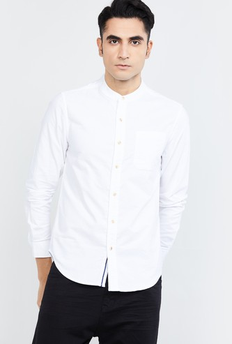 MAX Solid Full Sleeves Slim Fit Casual Shirt