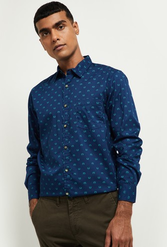 MAX Printed Full Sleeves Smart Fit Casual Shirt