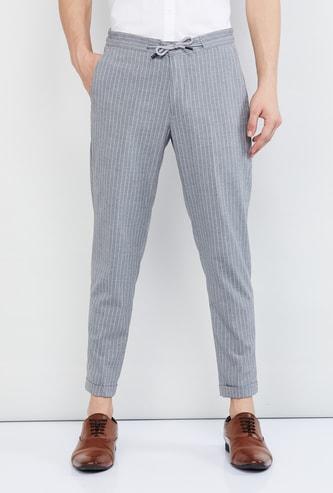 MAX Striped Drawtsring Waist Casual Trousers