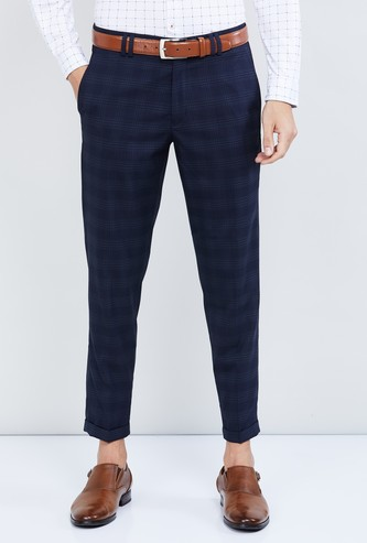 MAX Checked Slim Tapered Trousers