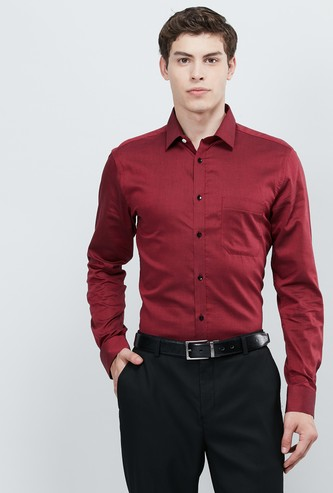 MAX Solid Full Sleeves Slim Fit Formal Shirt