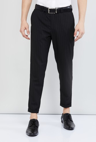 MAX Striped Slim Fit Formal Trousers