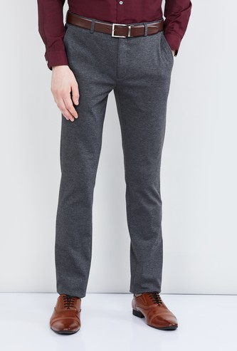 MAX Textured Formal Pants with Pockets