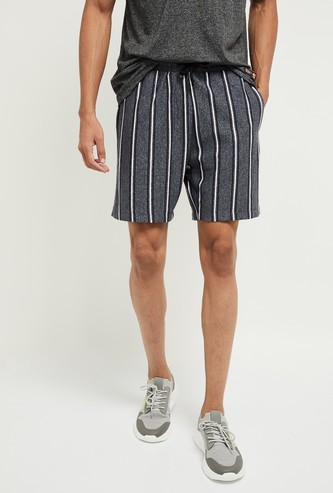 MAX Striped Shorts with Insert Pockets