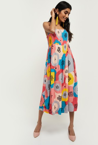 MAX Printed Camisole Sleeveless Dress