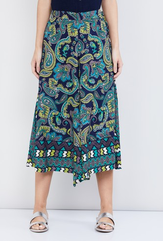MAX Printed Culottes with Tie-Up