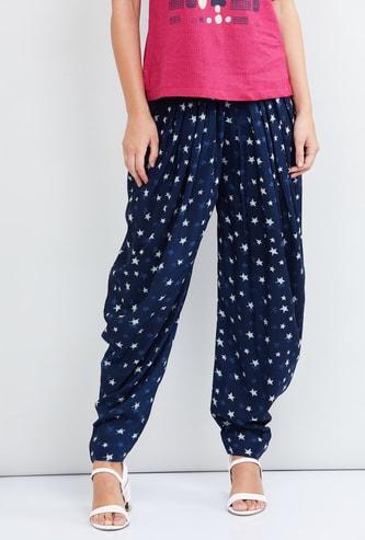 MAX Printed Elasticated Patiala Pants