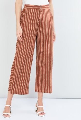 MAX Striped Woven Cropped Pants