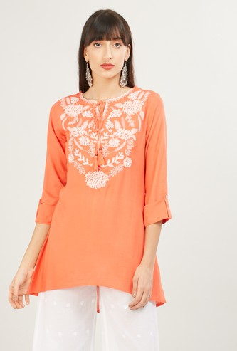 MAX Embroidered Asymmetric Top