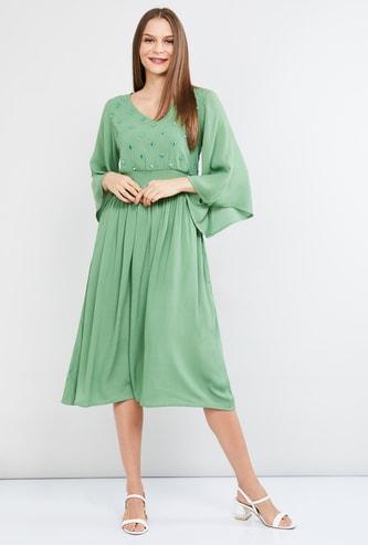 MAX Embellished Midi Dress