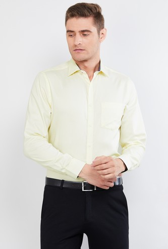 MAX Textured Cotton Slim Fit Formal Shirt