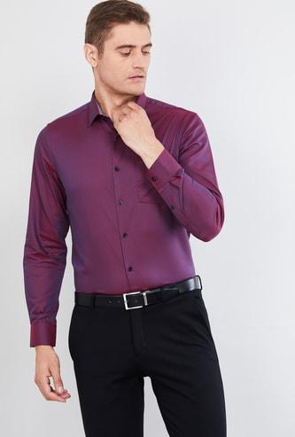 MAX Patterned Weave Slim Fit Formal Shirt