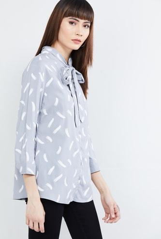 MAX Printed Three-quarter Sleeves Top