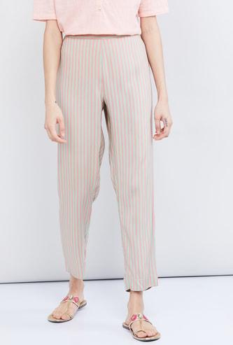 MAx Striped Eco Liva Cropped Pants