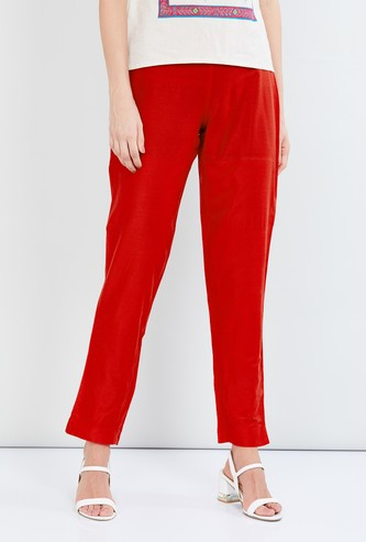MAX Solid Woven Straight Pants