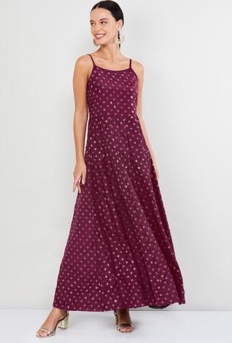MAX Embellished Maxi Dress with Shoulder Straps