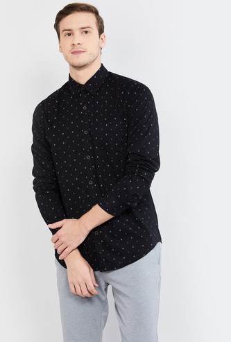 MAX Printed Full Sleeves Slim Fit Casual Shirt