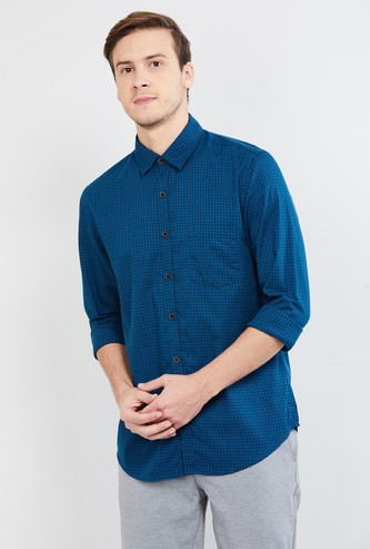 MAX Checked Full Sleeves Slim Fit Casual Shirt