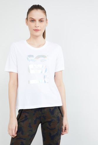 MAX Typographic Print Liva Round-Neck T-shirt