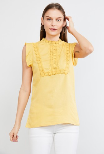 MAX Solid Lace Insert Top