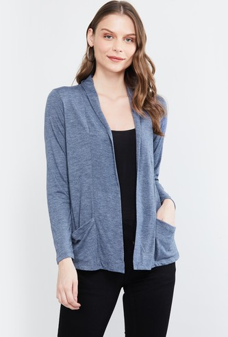 MAX Heathered Shrug with Insert Pockets