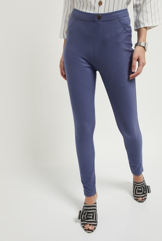 MAX Solid Ankle-Length Jeggings