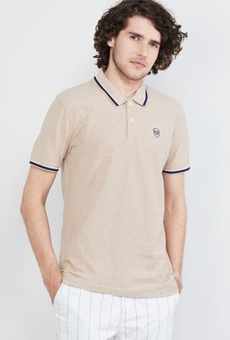 MAX Textured Short Sleeves Regular Fit Polo T-shirt