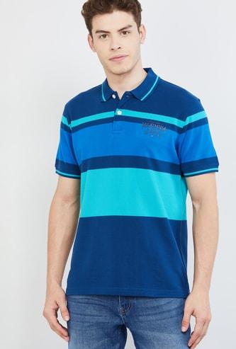 MAX Colourblocked Regular Fit Polo T-shirt