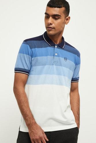 MAX Colourblocked Slim Fit Polo T-shirt
