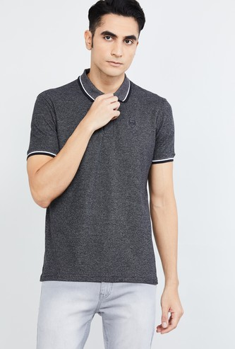 MAX Textured Regular Fit Polo T-shirt